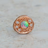 Opal and Diamond Pebble Stud
