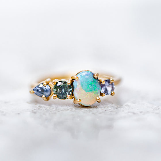 Shades Of Blue Splice Ring