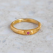 Apollo Ruins Pink Sapphire Stacking Ring