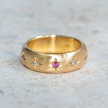 Pink Sapphire Star Set Ring