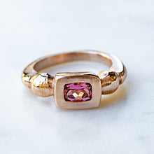 Peach Tourmaline Talisman Ring