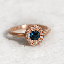 Sapphire and Diamond Pebble Ring