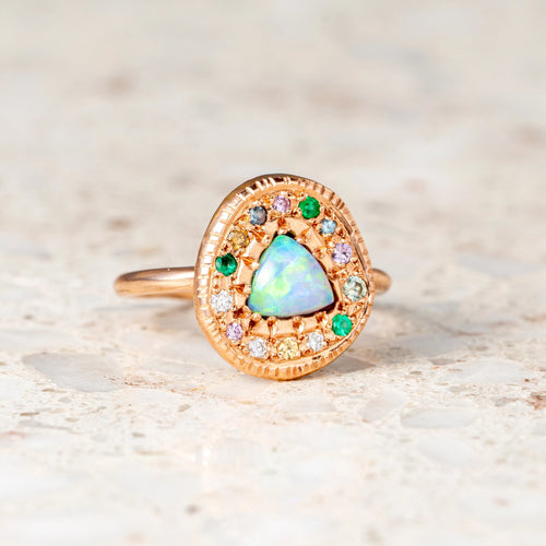 Opal Pebble Ring