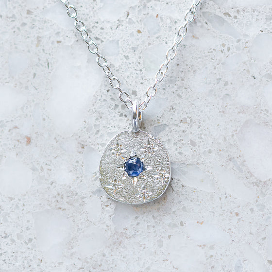 Sapphire Snowflake Necklace