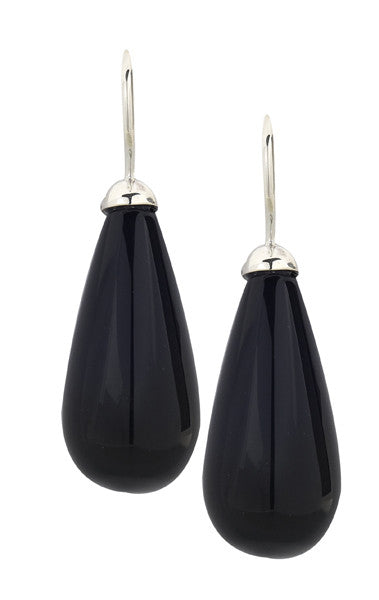 Deco Drops- Onyx and Silver