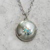 Silver Opal Star Locket