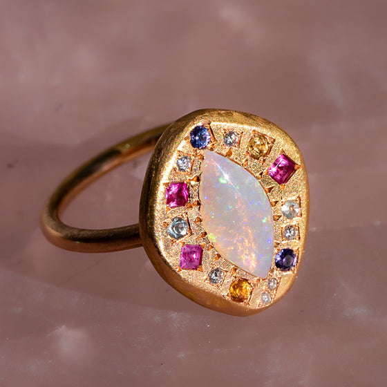 The Kiss Opal Pebble Ring
