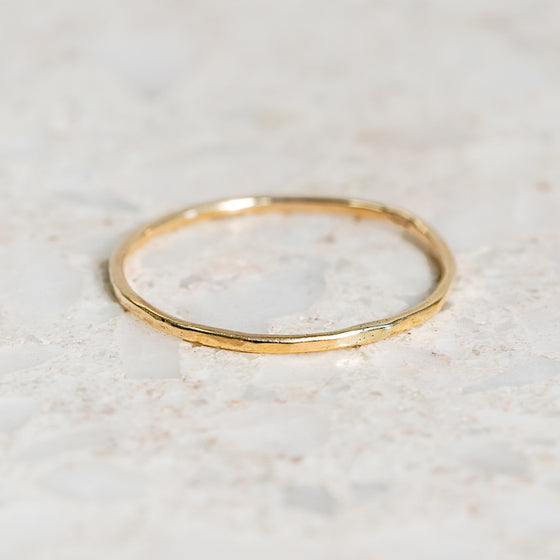 Whisper of Gold Hammered Band