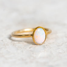 White Opal Stacker Ring