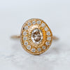 Champagne Diamond Pompeii  Ring