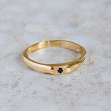 Apollo Ruins Blue Sapphire Stacking Ring