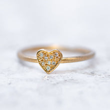 Diamond Mini Heart Stacking Ring