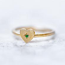 Emerald  Mini Heart Stacking Ring