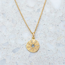 Salt & Pepper Diamond Sun Ray Necklace