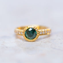 Teal Sapphire Belle Ring