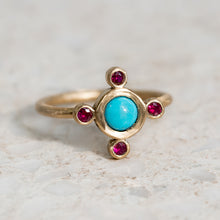 Royale Ruby and Turquoise Ring