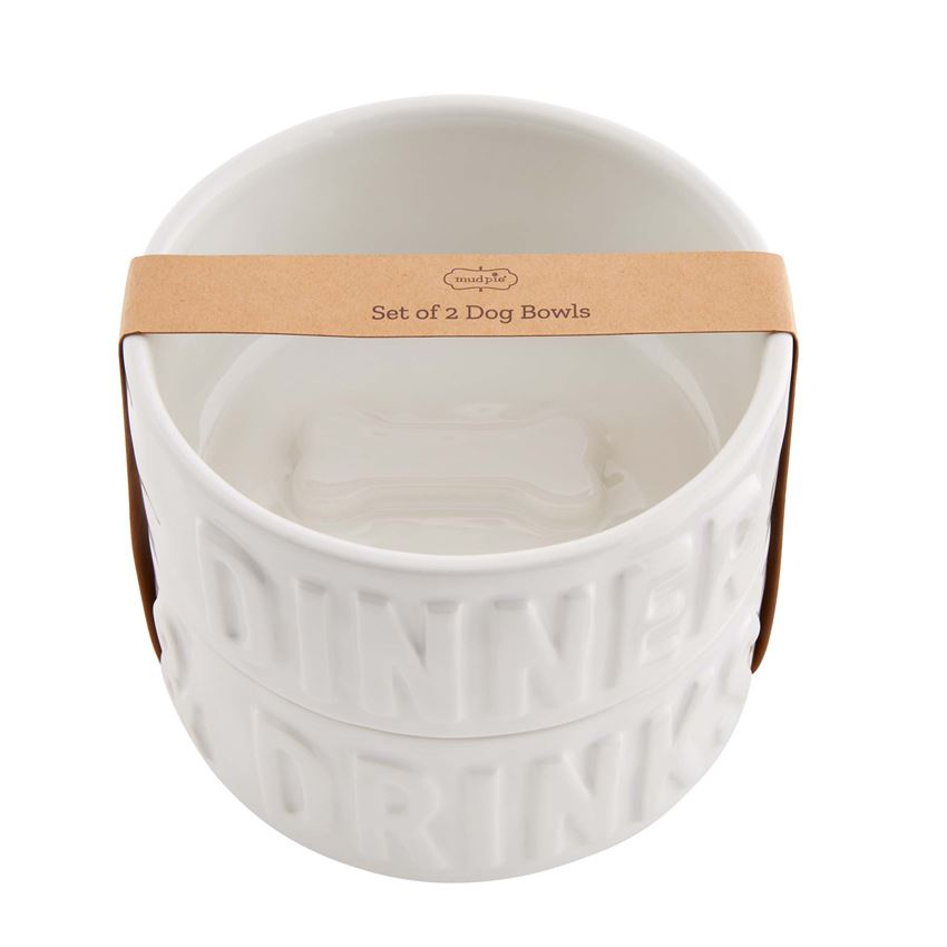 Dinner & Drinks Dog Bowl Set