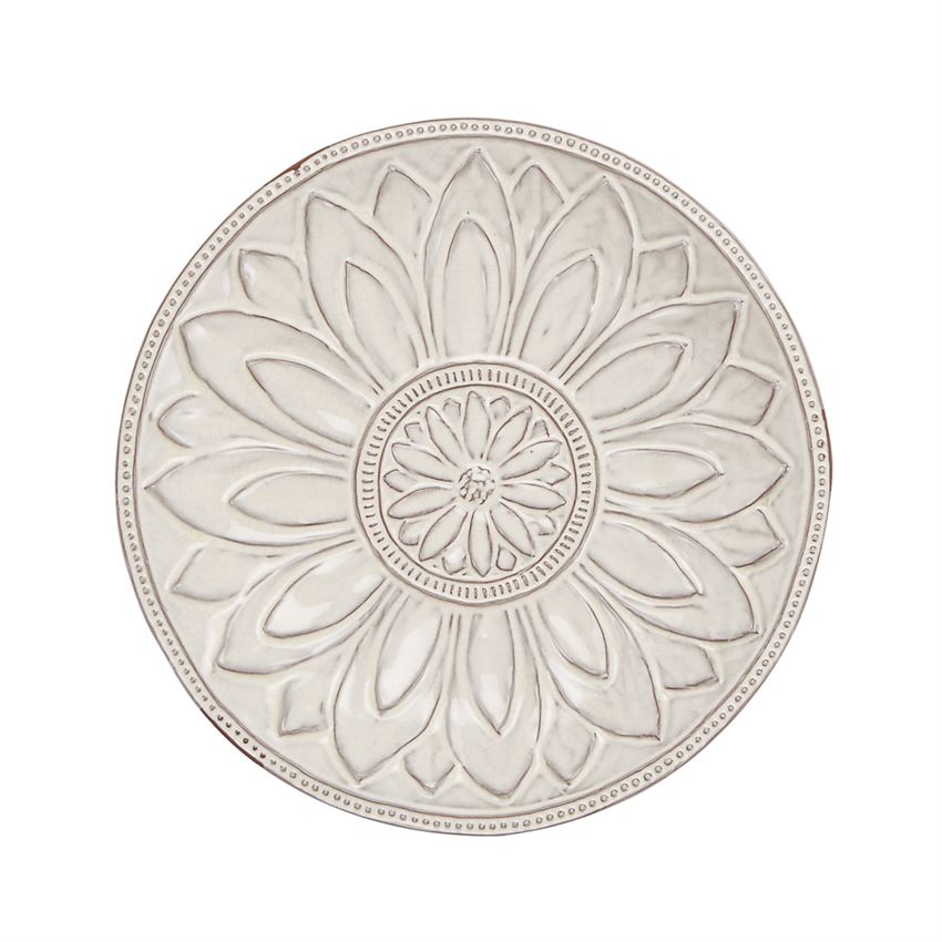 Flower Crest Terracotta Tray