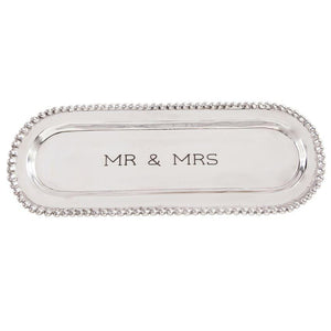 Mr. & Mrs. Beaded Cracker Tray