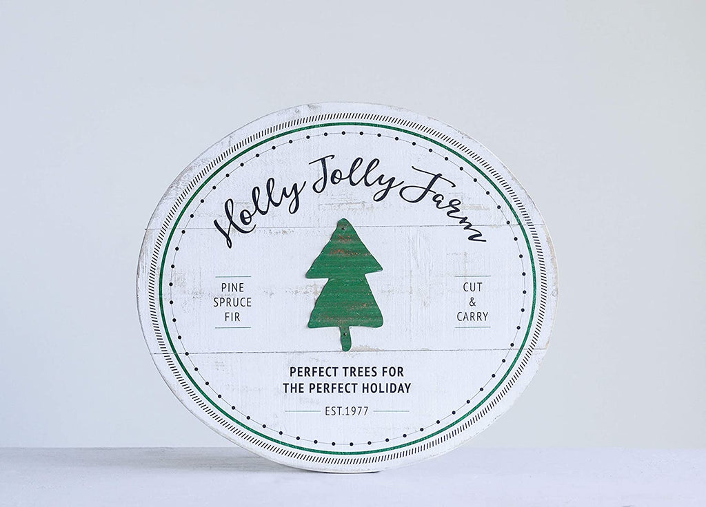 Holly Jolly Farm Wall Decor
