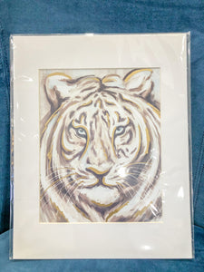 Golden Tiger Print 8x10