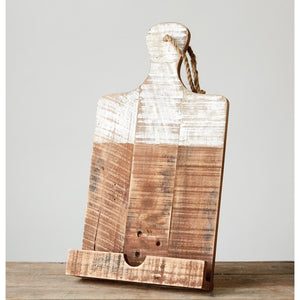 Wooden Tablet & Cookbook Holder