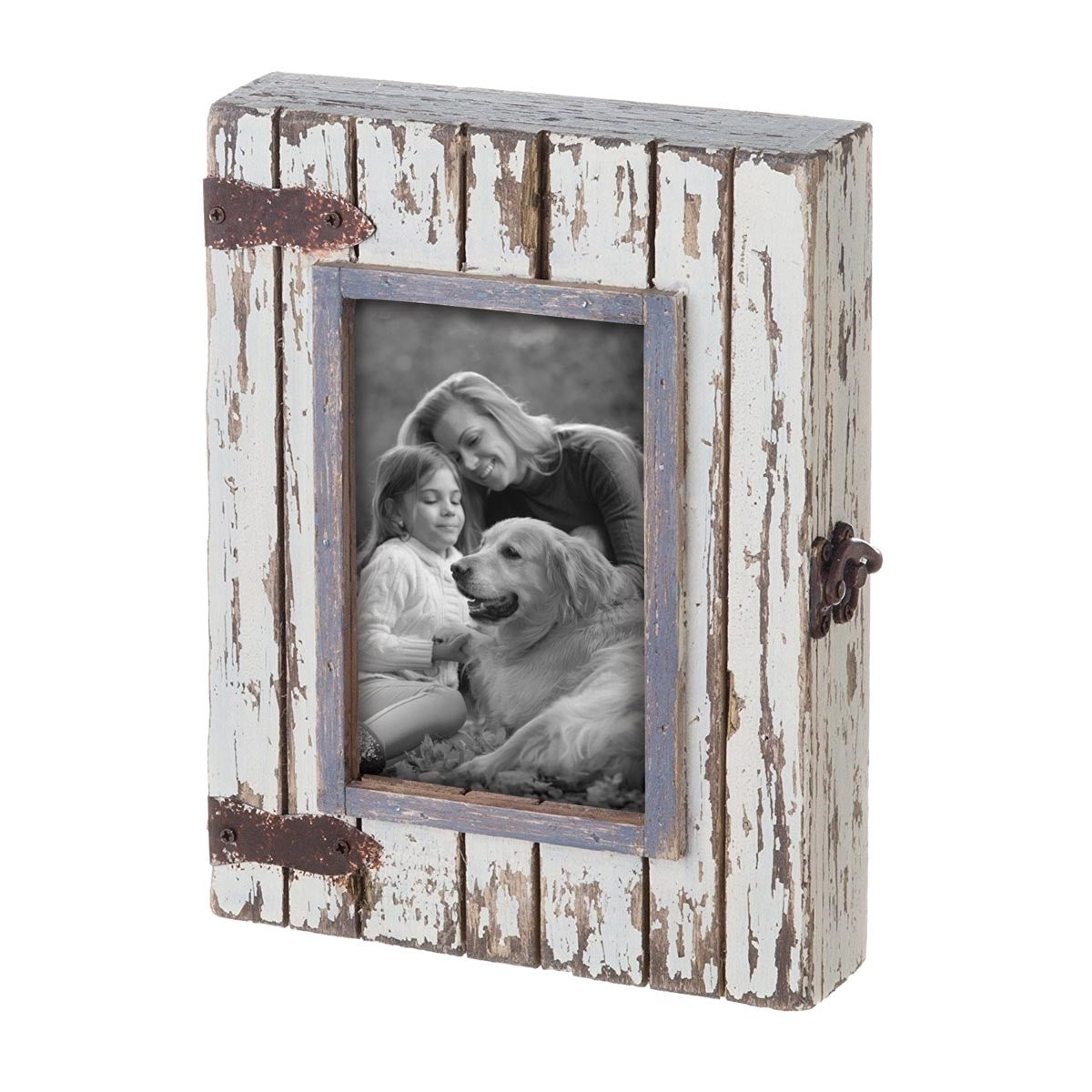 Rustic Wood Box Photo Frame