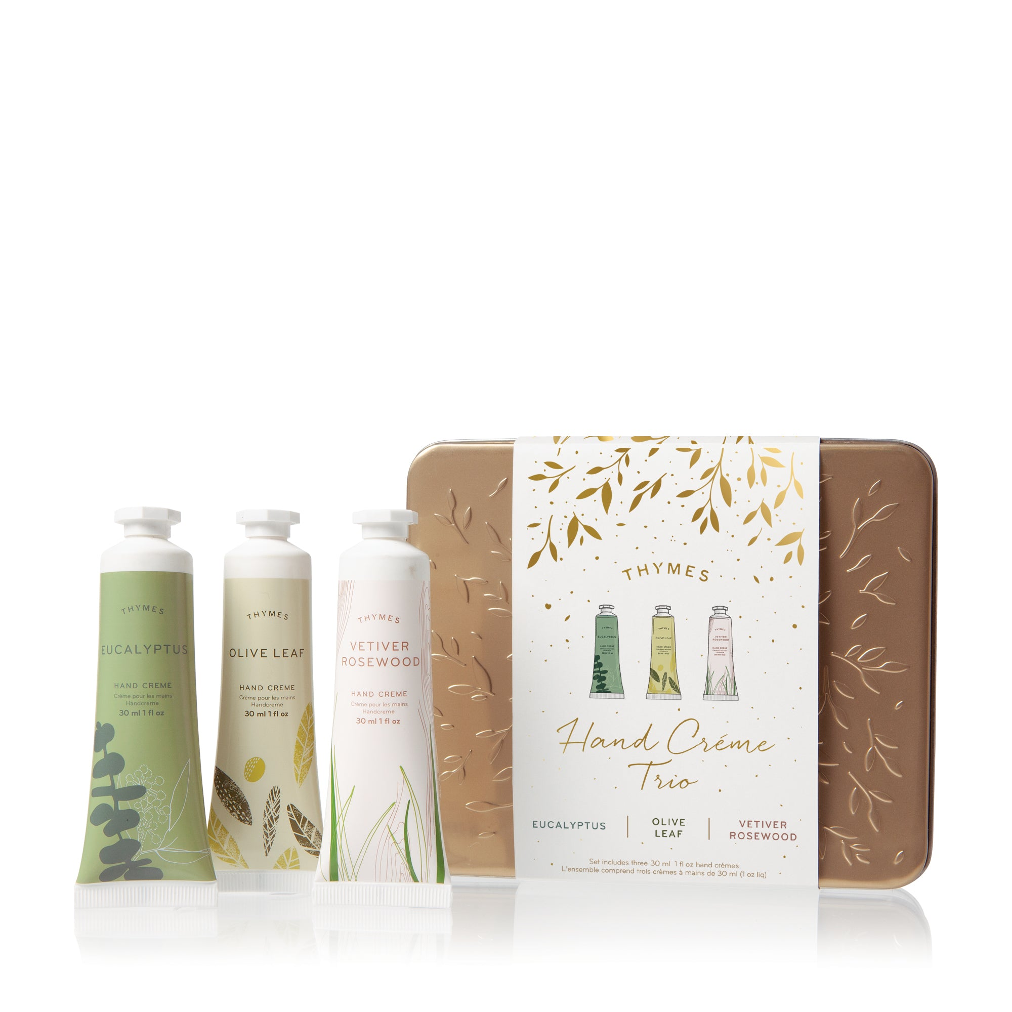 Eucalyptus, Olive Leaf and Vetiver Rosewood Hand Cream Trio