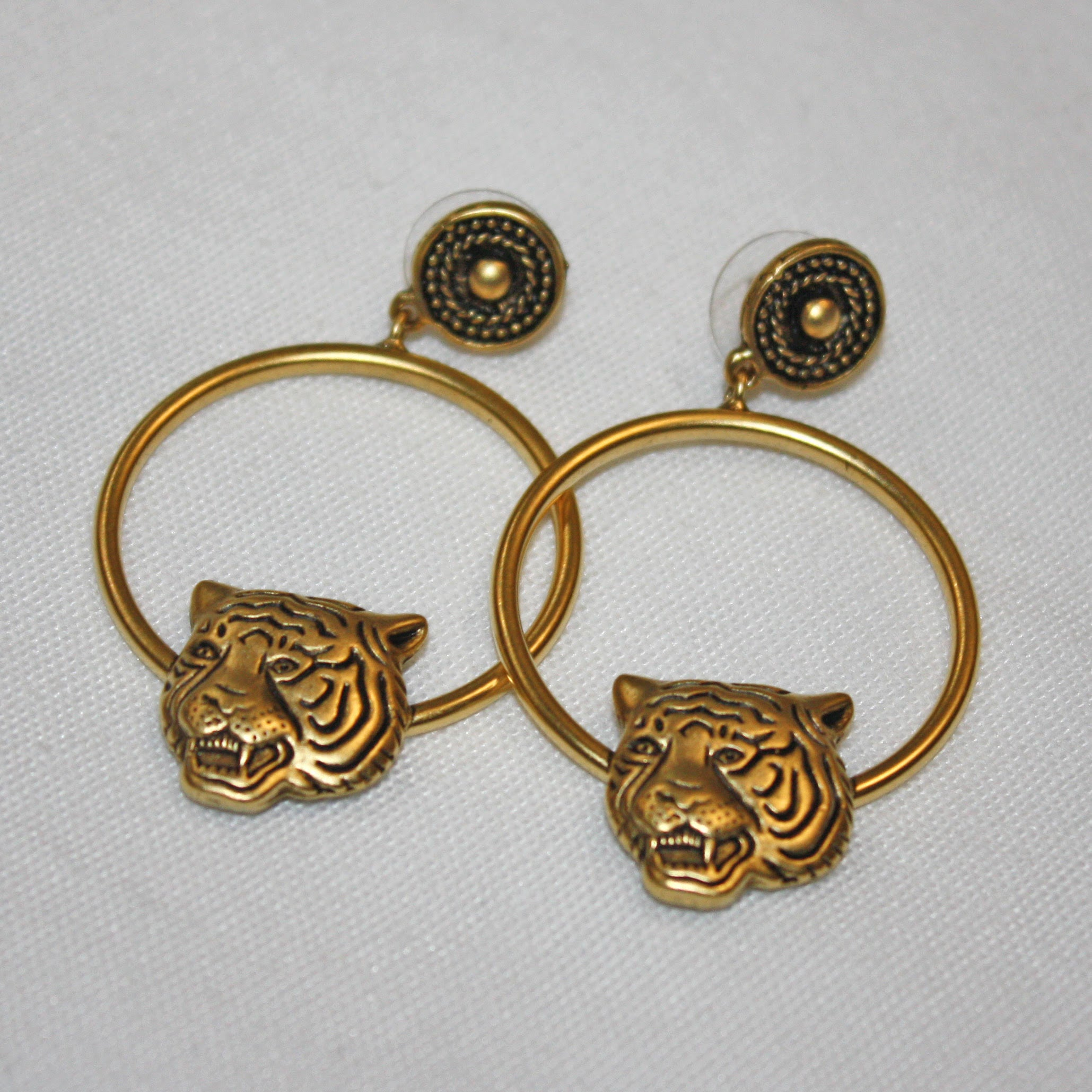 Tiger Head Drop Hoops