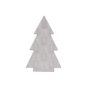 Embossed White Porcelain Tree