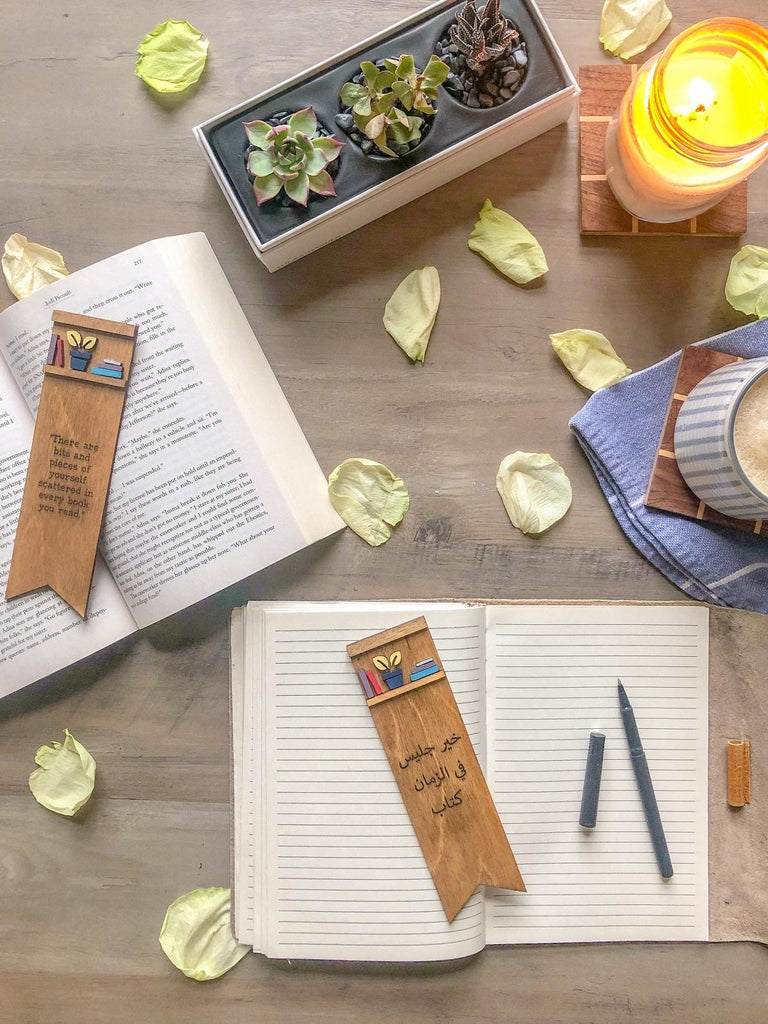Wooden Quote Bookmark