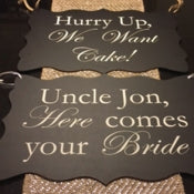 Wedding Text Stencil