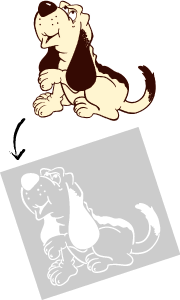 Custom dog stencil design