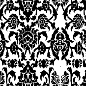 Lower and Leaf Damask Stencil