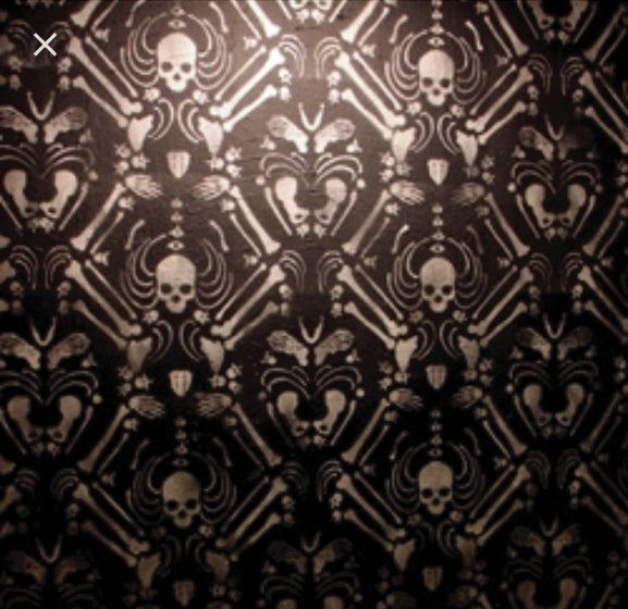 Skeleton wall covering stencil