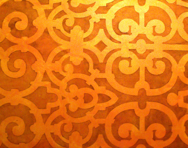 Moorish gate damask stencil