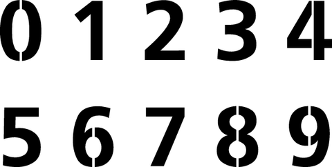 "8"" and 14"" Fruiteger Font Numbers"