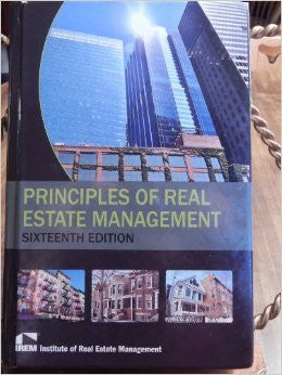 Principles of Real Estate Management
