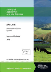 ANSC 021 Livestock Production Systems