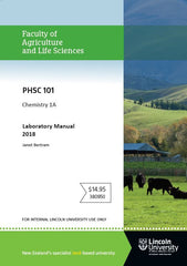 PHSC 101 Chemistry 1A Laboratory Manual