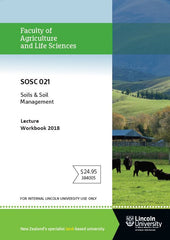 SOSC 021 LECTURE WORKBOOK Soils & Soil Management