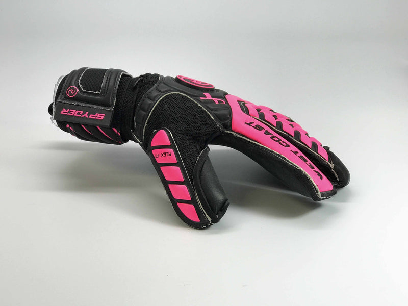 SPYDER X Pink For a Cure - Fingersave Goalkeeper Gloves West Coast Goalkeeping
