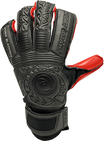 KONA Blackout Crimson - Fingersave Goalkeeper Gloves West Coast Goalkeeping