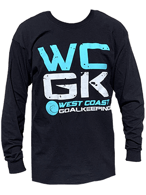 WCGK Black Long Sleeve T-Shirt - Fingersave Goalkeeper Gloves West Coast Goalkeeping