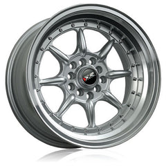 XXR 002 WHEEL - SILVER W/ POLISHED LIP 16''