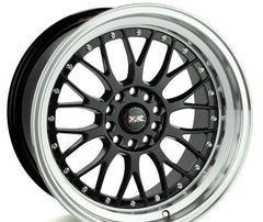 XXR 521 WHEEL - BLACK W/ POLISHED LIP 17''
