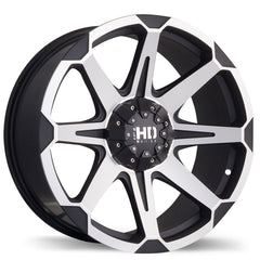 FAST HD SERIES DETONATOR F176 WHEEL - MATTE BLACK W/ MACHINED FACE 20''