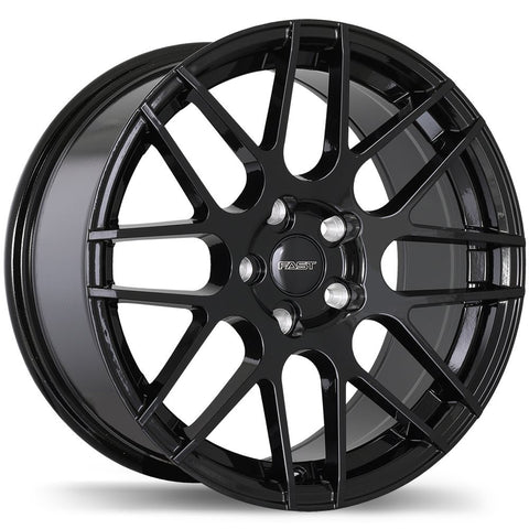 FAST RENNEN F181 WHEEL - GLOSS BLACK 17''