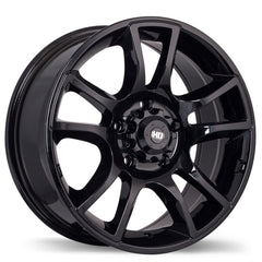 FAST HD SERIES HOLLOWPOINT F183 WHEEL - GLOSS BLACK 17''