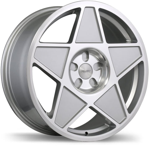 FAST NINETEEN 80 F209 WHEEL - GLOSS SILVER W/ MACHINED FACE 19''